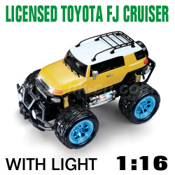 1:16 Scale Licensed TOYOTA FJ CRUISER With LED lights and 4 colors (HK-TV8057B)