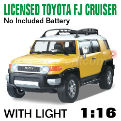 1:16 Scale Licensed TOYOTA FJ CRUISER With LED lights and 4 colors (HK-TV8057C)