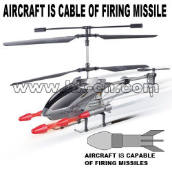 Missile shooting rc helicopter with radio control