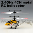 TOYABI Mini Metal 4CH 2.4G RC helicopter with LED light