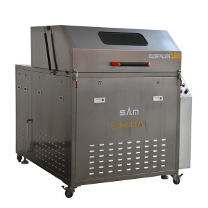 Automatic wave solder pallet cleaning machine ,  condenser cleaning machine