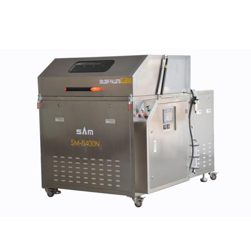 Máquina automática da limpeza da pálete da solda da onda, máquina da limpeza do condensador