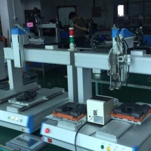 4 axis Screw tightening robot with vacuum screw feeder