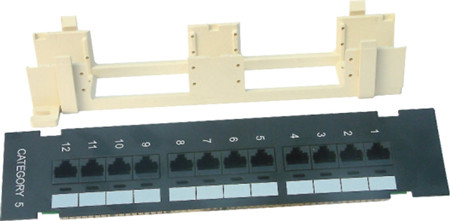JP-6411 cat5e 12 ports patch panel