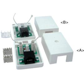 超5类RJ45桌上盒(含PCB)JC-2108
