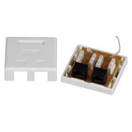 Cat5E & Cat6 PCB Tooless 110IDC Surface Mount Boxes