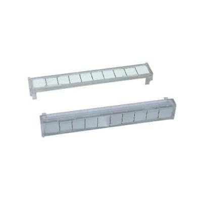 Identification strips cover for 10 pairs,Carátula identificativa para regletas de 10 pares