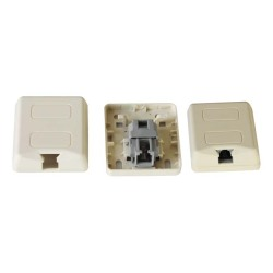 2-wire RJ11 phone jack connector protected with gel