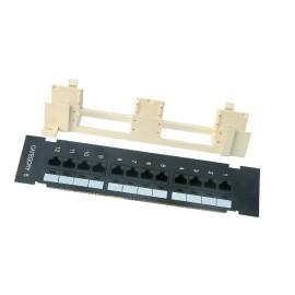 Wall-Mount Cat5e Patch Panel, 12 port, 568B, RJ45 Ethernet