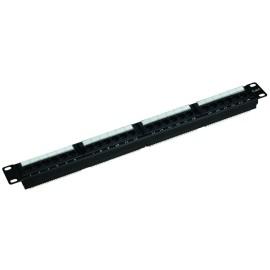 CAT6 24-Port  Patch Panel, Universal Wiring T568A/B 1U, Black