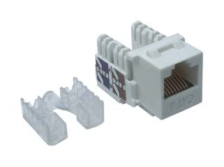 CAT6 Keystone Jack 90 Degree White -UTP