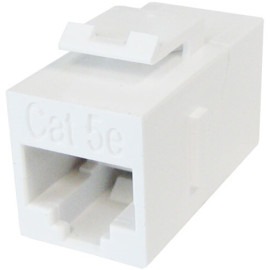 CAT 5E Inline Coupler, Unshielded, Snap-In w/Keystone Latch
