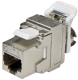 CAT6 RJ45 Shielded Keystone Jack T568A/B Wiring in HD Style (8P8C)