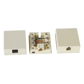 RJ11 Modular Single Port Surface Mount Box