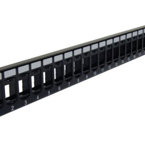 Blank High Density Patch Panel 24-Port for keystone jack