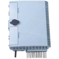 Outdoor fiber optic PLC Splitter plastic Distribution Box 16 Core for FTTH