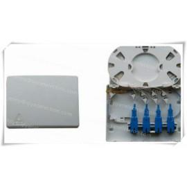 4 Port Fiber Optical Patch Panel FTB-104B / Mini FTTx Fiber Optic Termination Box