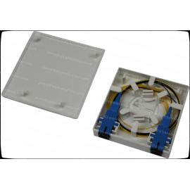 Mini plastic 1/2/4 Core SC LC Ftth/Fttx Fiber Termination Box Wall Mount FTB-86