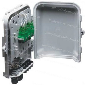 8-Port Wall or Pole Mountable Outdoor Waterproof plastic Fiber Optic Distribution Box