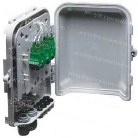 8-Port Wall or Pole Mountable Outdoor Waterproof plastic Fiber Optic Distribution Box