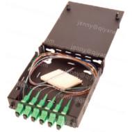 Indoor Fiber Optic Wall Mount Termination Box, Black