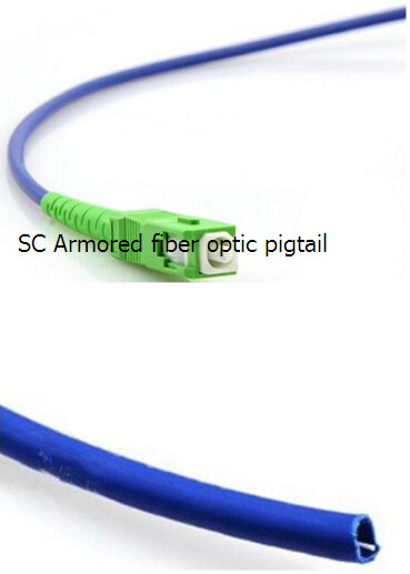 Fiber Optic Pigtails Armored LC(sc)ST(fc) (UPC/APC) Single-Mode/multimode Simplex/Multimode