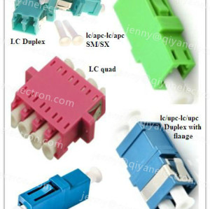 LC Simplex/Duplex/ Quad Plastic/Metal Fiber Optic Adapter/hybrid adapters