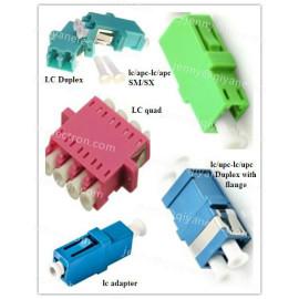 LC Simplex/Duplex/ Quad Plastic/Metal Fiber Optic Adapter/hybrid adapters