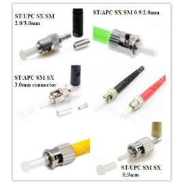MU/PC/UPC Singlemode/multimode simplex ø0.9/2.0/3.0mm Fiber Optic Connector
