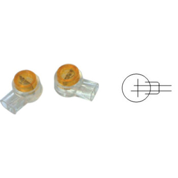 UY wire connector idc Tel-Splice Connector 22-26AWG Plastic gel filled