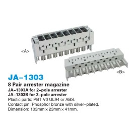 8 pair  arrester magazine/over-voltage protection magazine                        JA-1303