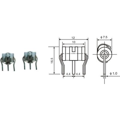3 tubes à décharge de gaz Electrode JA-1306