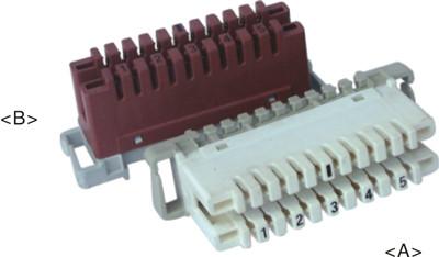 5 pair LSA disconnection module           JA-1006D