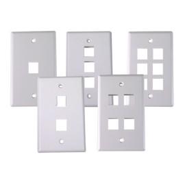 Single-gang wallplate/faceplate