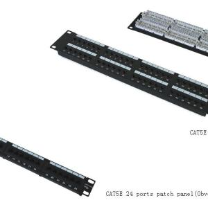CAT5E 24 port patch panel                               JP-6417