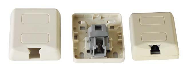 RJ11 Type de Pouyet Surface Mount Box JC-2114