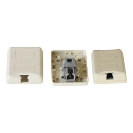 RJ11 Pouyet Type Surface Mount Box with toolless gel filled jack
