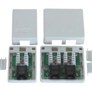 Cat.5e  RJ45 surface mount box                JC-2108