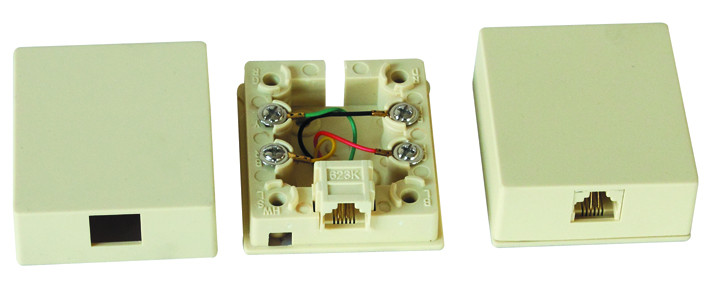 RJ11 surface mount box                JC-2113