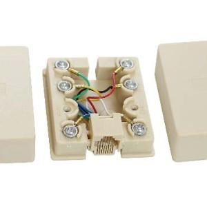 8P8C/RJ45 Surface mount box                 JC-2112