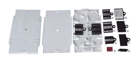 12 cassette d'épissure Pôle Fibres JF-2022
