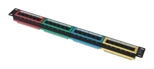 Conectador clase super 5 con 24 bocas: JP-6412