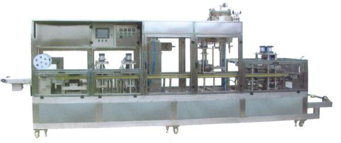 Fully automatic plastic cup forming filling sealing machine