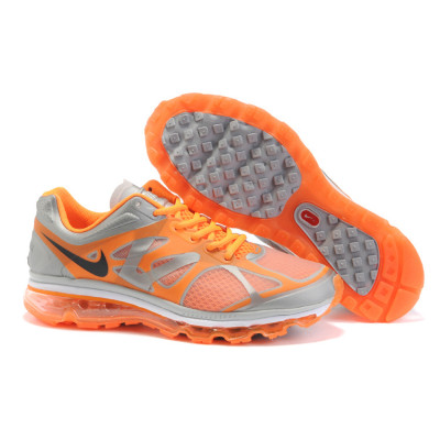 nike air max 2012 running shoes grey orange blackchina