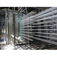 Perfil horizontal línea de recubrimiento de polvo de aluminio