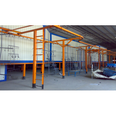 powder coating curing tunnel for powder coating line