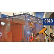 Cabina de pintura de PVC transparente