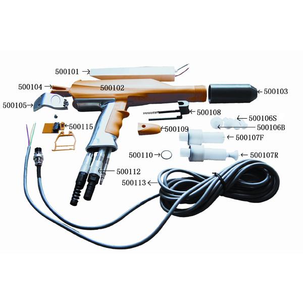 静电粉末手动喷枪 及配件厂家直供