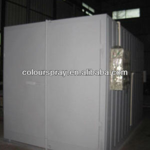 Powder coating paint cure oven