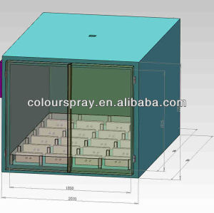 automatic powder paint coating oven